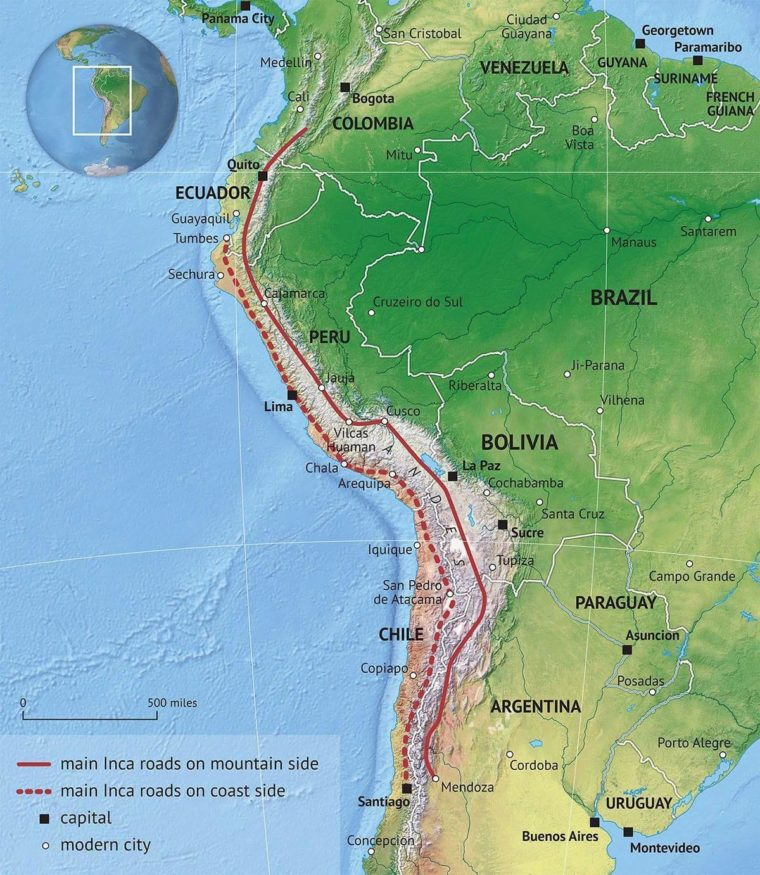 Inca Road System (Wikipedia)